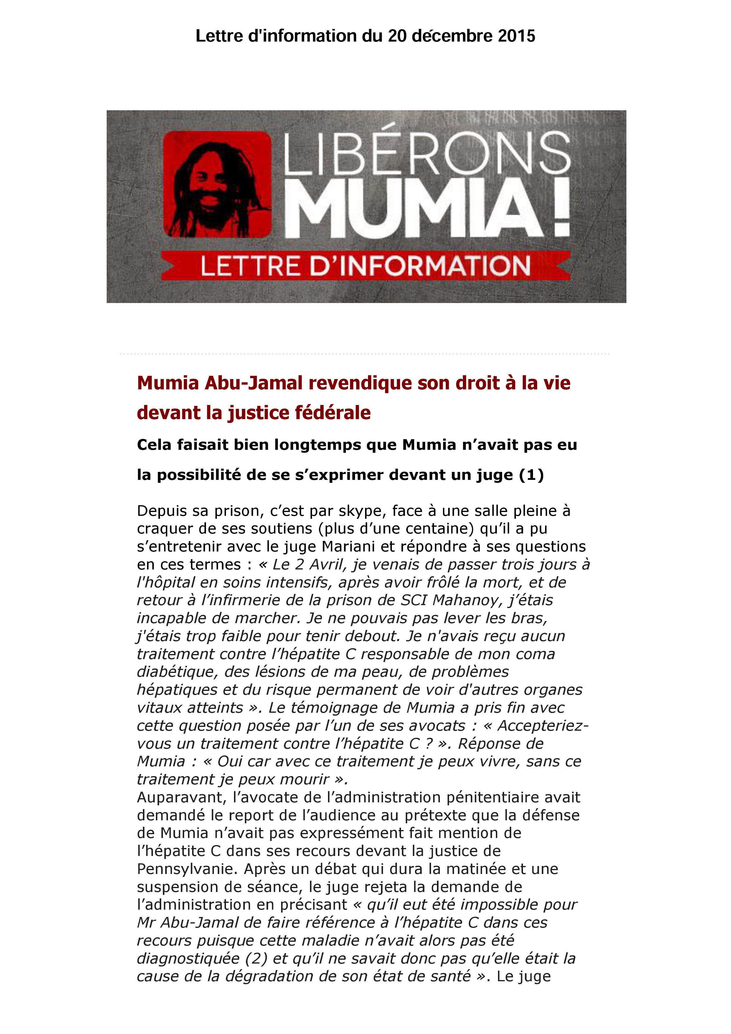 lettre info Mumia