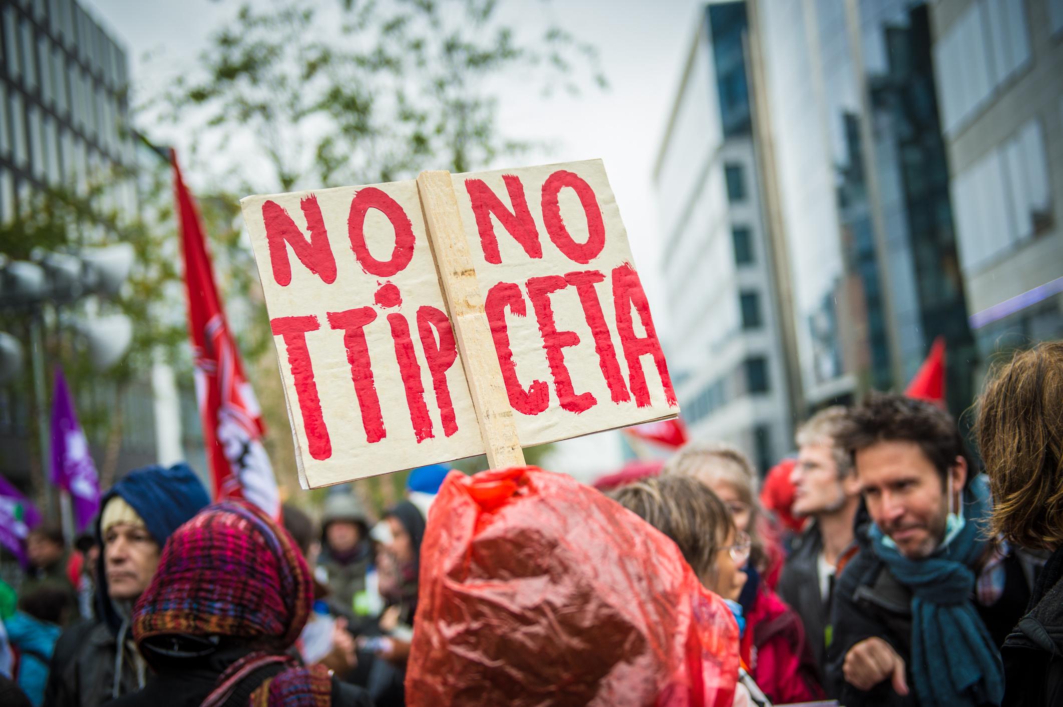 Manifestation contre le CETA
