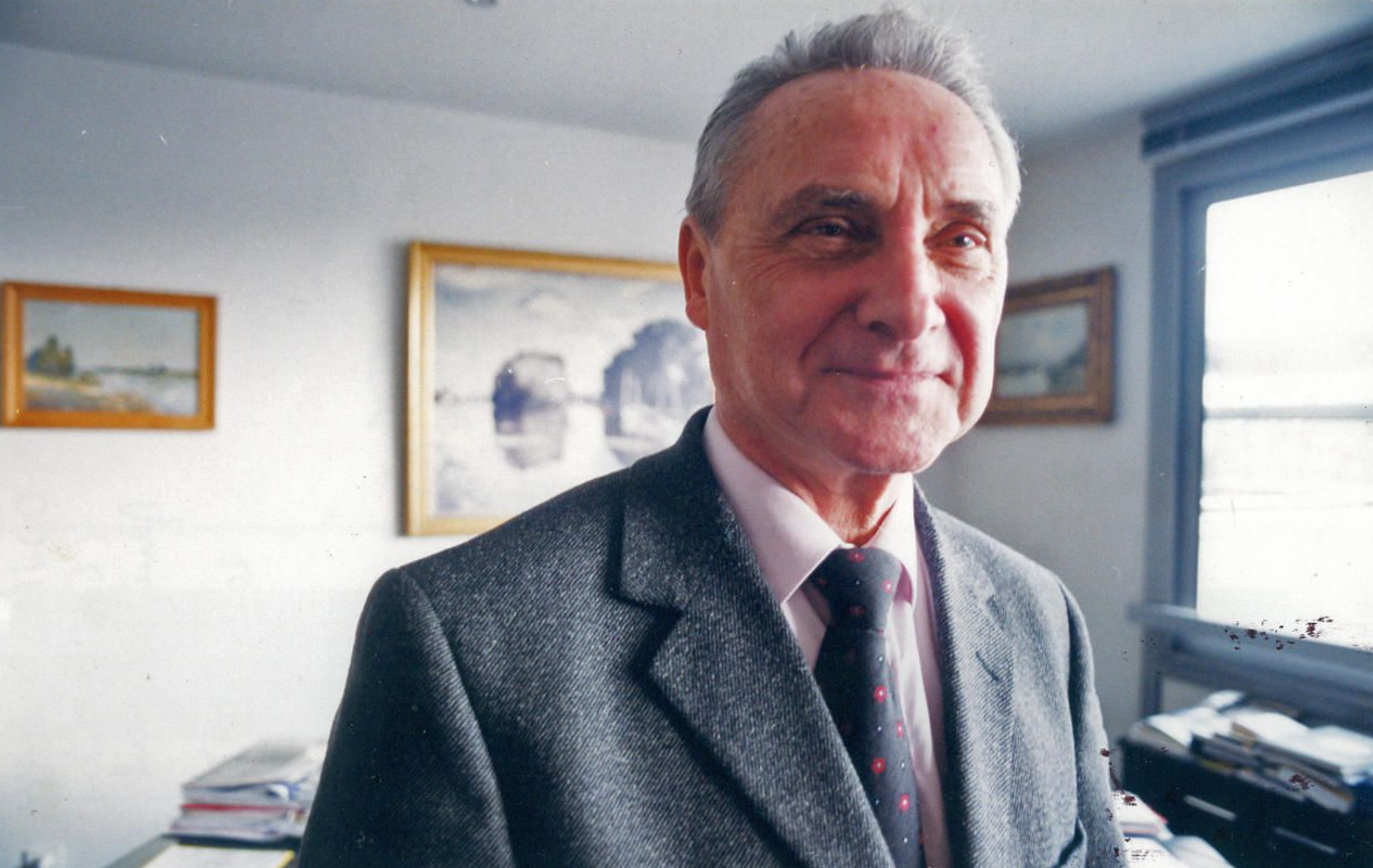 L'ancien maire d'Argenteuil Roger Ouvrard, ici en février 2001