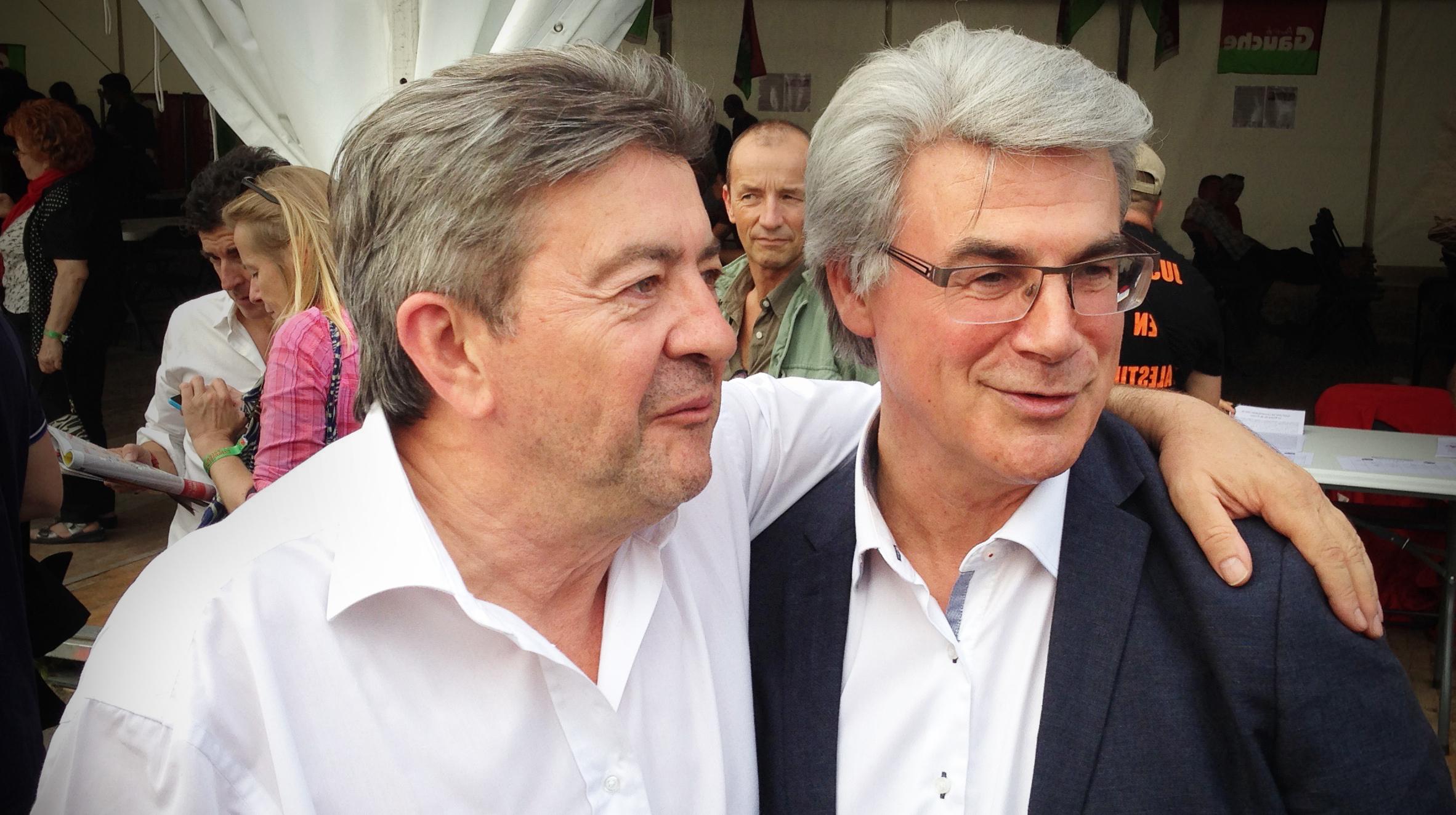 Jean-Luc Mélenchon et Patrick Le Hyaric à la fête de l'Humanité