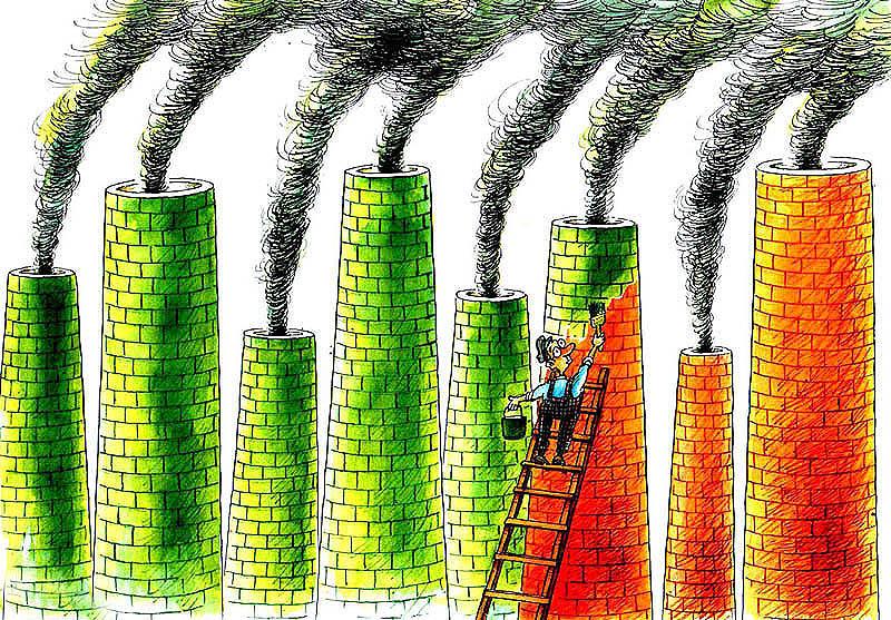 Si rien ne bouge, malgré le verdissement des façades des multinationales et la blague d'une « finance verte », c'est parce que les objectifs sociaux et environnementaux sont autant de freins à l'extension de la sphère marchande et financière. (dessin: Pavel Constantin)